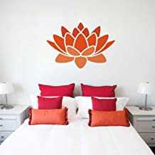 Rawpockets 'Lotus Flower' Wall Sticker (PVC Vinyl, 1 cm x 60 cm x 90 cm)