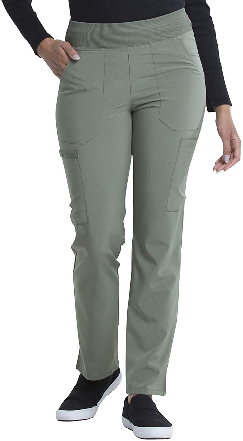 Dickies EDS Essentials Women Scrubs Pant Natural Rise Tapered Leg Pull-On DK005