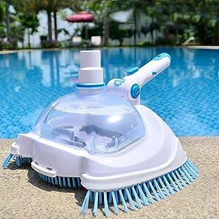 LeveraYo - Forro de vinilo para alberca y spa con cabezal de aspiradora, transparente, herramienta manual de limpieza y ma...