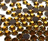 Perlin - Piedras de estrás termofijables, 14400 unidades, hematita dorada, 2 mm, calidad SS6 AAA, para planchar, pegamento en caliente, piedras brillantes de cristal 401