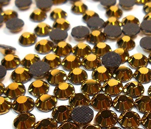 Perlin - Hotfix Strasssteine, 2880stk, Gold Hematite, 5mm SS20 AAA Qualität, 20 Gross, zum Aufbügeln, Hotglue, Glitzersteine Rhinestone Großhandel Glass Strass Perlen 444 x2