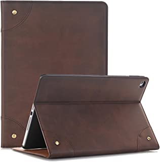 TechCode Galaxy Tab S 8.4'' Skin Cover, Luxury Book Style Folio Cover Stand Magnetic PU Leather Smart Case for Samsung Galaxy Tab S 8.4 Inch SM-T700/SM-T705(Tab S 8.4, Dark Brown)