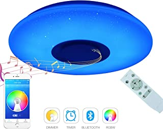 Dimmable Bluetooth Light Fixture Children's Home Ceiling Light Flush Mount Starlight Ceiling lamp Fixture 36W for Party Girl Bedroom Kitchen Living Room Dining Room 19.7inch