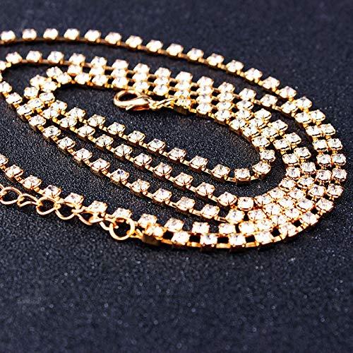 Pulseras Brazalete Joyería Mujer Pulsera De Diamantes De Imitación Multicolor Brillante para Mujer, Brazalete Largo Bohemio, Accesorios De Moda, Oro Dorado