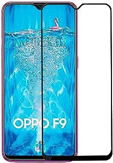 شاشة حماية من الزجاج المقوى 5D، صمغ كامل، صلابة 9H، سهل التركيب ومقاوم للخدش لهاتف اوبو اف 9، اف 9 برو - اسود