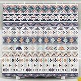N\A Cortina de Ducha, Cortina de Ducha para niños, Colecciones de Cintas de Borde Tribal Waterproof Decor Set de baño con Ganchos