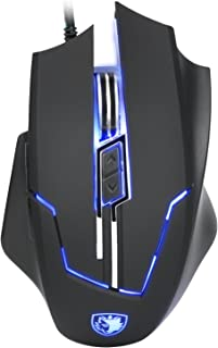 Thinktank Computer Lightweight Gaming Mouse,SADES Q7 USB Professional 7 Buttons Mice with 2400 DPI 4 LED Color for PC/MAC/LAPTOP (Black)