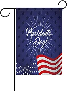 SmallGardenflagMim Stylish Presidents Day Polyester Garden Flag House Banner 12 x 18 inch, Two Sided Welcome Yard Decoration Flag for Wedding Party Home Decor