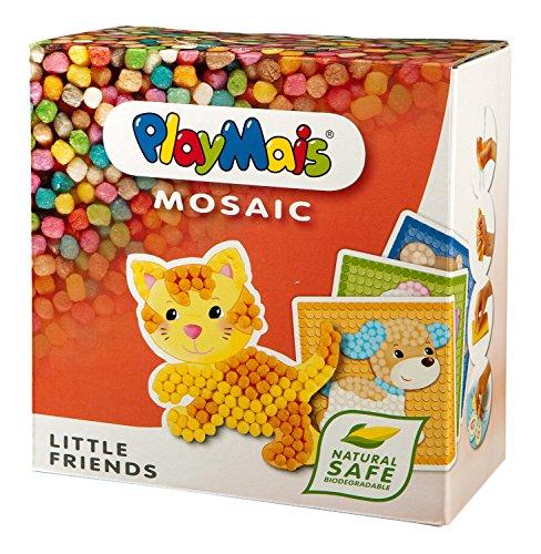PlayMais - Mosaic Little Friends, 2300 piezas, juego de manualidades (Loick Biowertstoff GmbH 22AH160182) , color/modelo surtido