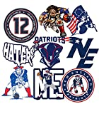 GTOTd Stickers for Patriots 20Pcs(10 Different Designs,Each 2 Pcs).Gifts Patriot Stickers Decal Skateboard Guitar Travel Case Sticker Door Laptop Luggage Car Bike Stickers