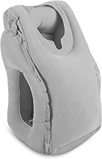 HAIYANLE Inflatable Travel Pillow for Airplanes Portable Airplane Pillow for Head Neck Support on Flight Train Car Used as...