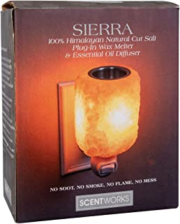 Scent Works Sierra 100% Himalayan Natural Cut Salt Plug-In Wax Melter & Essential Oil Diffuser