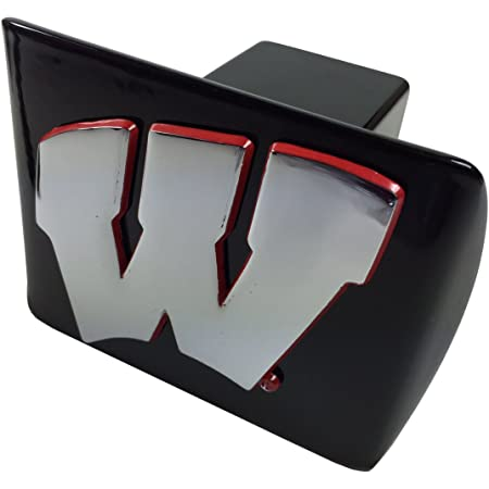 FANMATS Wisconsin Badgers Heavy-Duty Chrome Metal Trailer Hitch Cover
