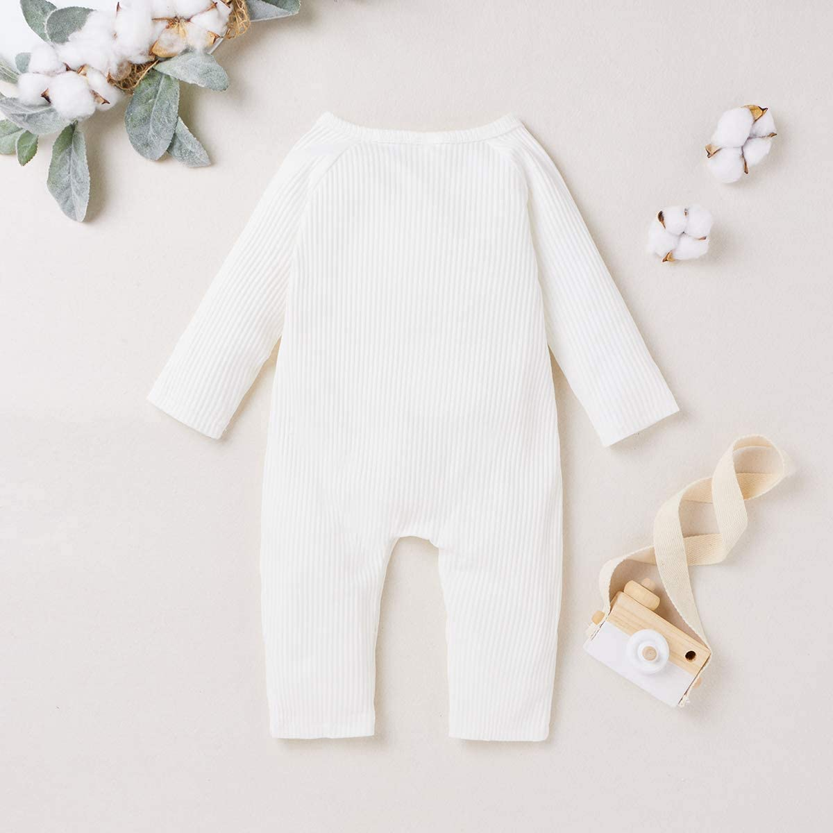 MoccyBabeLee Baby Boy Girls Rompers Rainbow Onesies One-Piece Bodysuit Long Sleeve Outfits Newborn Clothes