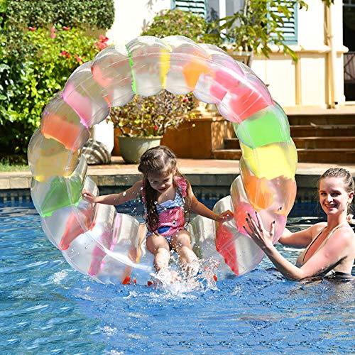 PeiQiH Aufblasbarer Kinder Wasserspielzeug,Großes Wasserrad Schwimmbecken Zubehör,Familie Sommer Wasserparty Aufblasbarer Schwimmer Für Outdoor Backyard A Durchmesser100cm(39inch)