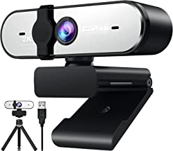 2K Webcam with Microphone, Campark QHD Streaming Computer Camera with AutoFocus, Plug and Play, Privacy Cover & Tripod, We...