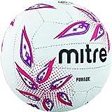 Mitre Pursue Netball, Unisex, Blanco/Magenta/Púrpura, 5