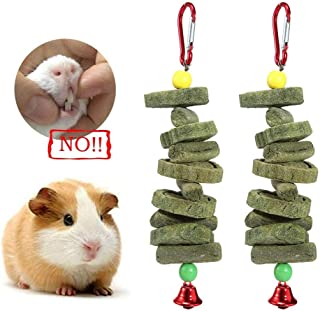 100% Natural Bunny Chew Toys Snacks String,Handmade Teeth Cleaning Chew Sticks Bird Beak Grinder Molar Toy Hanging Grass Cake for Parrot Hamster Chinchilla Rabbit Guinea Pigs Pet Chewing/Playing
