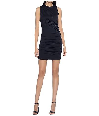 Susana Monaco Sleeveless Crew Neck Drape Dress (Black) Women