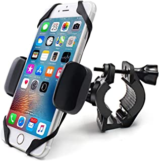 Bike Motorcycle Phone Mount, 360°Rotatable Adjustable Universal Silicone Motorcycle Phone Mount Bicycle Holder Compatible with iPhone 11 Pro Max/X/XS MAX/XR/8/8 Plus Samsung or Any Other Smartphone