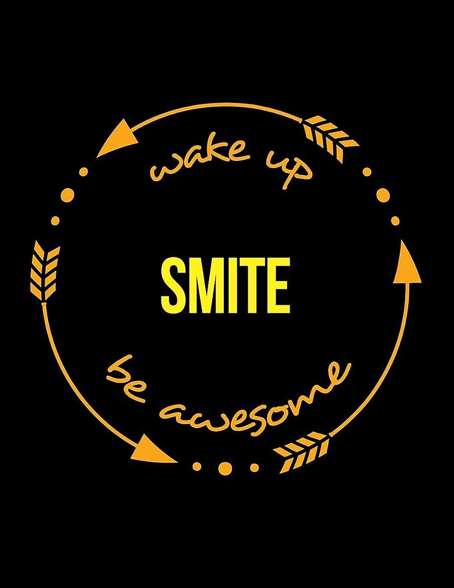 通信網合法スケッチWake Up Smite Be Awesome | Notebook for a Blacksmith, Composition Journal