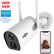 $85 » Hiseeu Wireless Outdoor Security Camera Battery Powered Rechargeable 1080P, Enhanced WiFi Home Security Cameras with Night Vision, Motion Detection,IP65 Waterproof,2-Way Audio Phone Remote Access