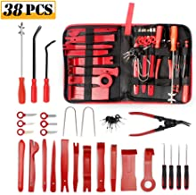 OUTON 38PCS Trim Removal Tool, Pry Kit, Car Panel Tool Radio Removal Tool Kit, Auto Clip Pliers Fastener Remover Pry Tool Kit, Car Upholstery Repair Kit, Prying Tool Kit with Storage Bag