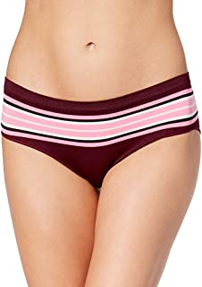 Womens Seamless Hipster Color Berry Sport Stripe Size