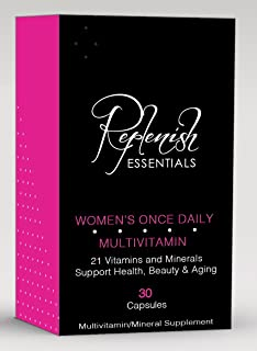 Replenish Essentials - One a Day, Womens Multivitamin, 3 Month Supply, Healthy Hair, Skin and Nails, Soy, Gluten and Yeast...