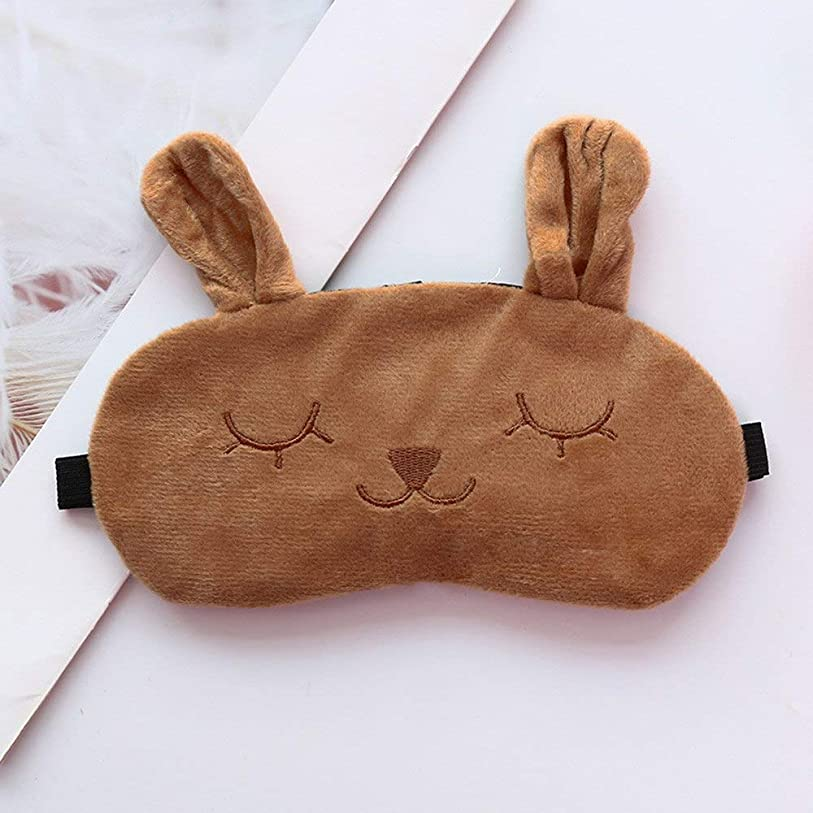 シャツ手首未来NOTE OutTop Sleep Maskナチュラルスリーピングアイマスクウサギのアイシェードカバーポータブル目隠し旅行調節可能なアイパッチNo Ice Bag#30