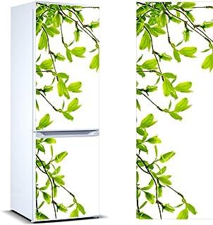 Pegatinas Vinilo para Frigorífico Ramas almendros | Varias Medidas 185x60cm | Adhesivo Resistente y de Fácil Aplicación | Pegatina Adhesiva Decorativa de Diseño Elegante