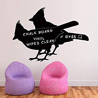 3D Wall Stickers Two Bird Blackboard Stickers Living Room Bedroom Can Be Transferred Background Wall Decoration Wall Stickers