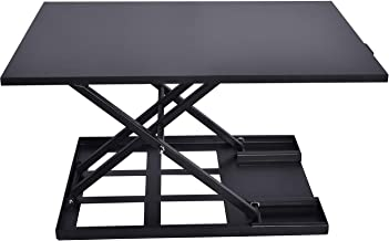 Tabletop Standing Desk Converters Computer Stand-Up Workstations, 32-inch W x 22-inch D, Glossy Black