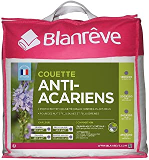 blanrêve Couette Anti-Acariens Très Chaude, Polyester, Blanc, 240 CM x 220 CM