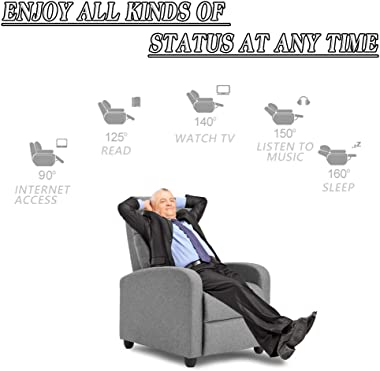 Recliner Chair for Living Room Winback Single Sofa Massage Recliner Sofa Reading Chair Home Theater Seating Modern Reclining