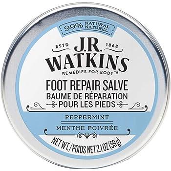 J.R. Watkins Foot Repair Salve, Peppermint, 2.1 Ounce