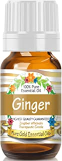 Pure Gold Ginger Essential Oil, 100% Natural & Undiluted, 10ml