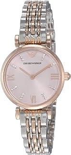 Emporio Armani Women's Gianni T-Bar AR11223 Rose-Gold Stainless-Steel Quartz Dress Watch