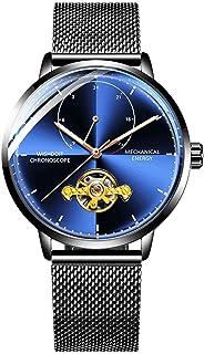 Men's Automatic Movement Watch Black Milan mesh Strap Watches