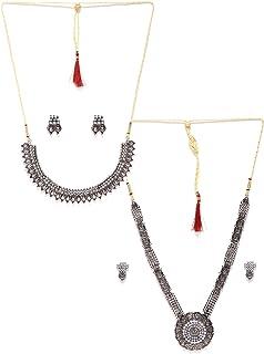 Zaveri Pearls Jewellery Set for Women (Silver) (ZPFK6506)