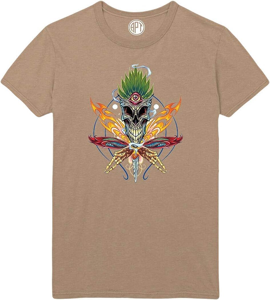 Cannabis Skull Printed T-Shirt