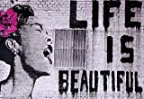 Banksy Poster Billie Holiday Life is Beautiful, Street Art