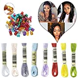 PHOCAS HairPhocas 8 Colors Magic Hair Strings Box Braids Hair Deco Styling Hair Braid Accessories with Dreadlock Beads Micro Rings