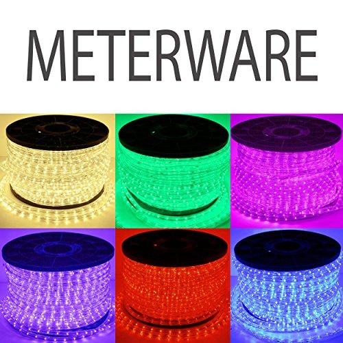 LED Lichterschlauch Lichtschlauch Lichterkette Licht Leiste Xmas Schlauch für Innen und Außen-Bereich - 1m, Meterware - Violett