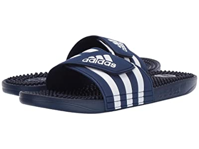 adidas adissage (Dark Blue/Footwear White/Dark Blue) Men
