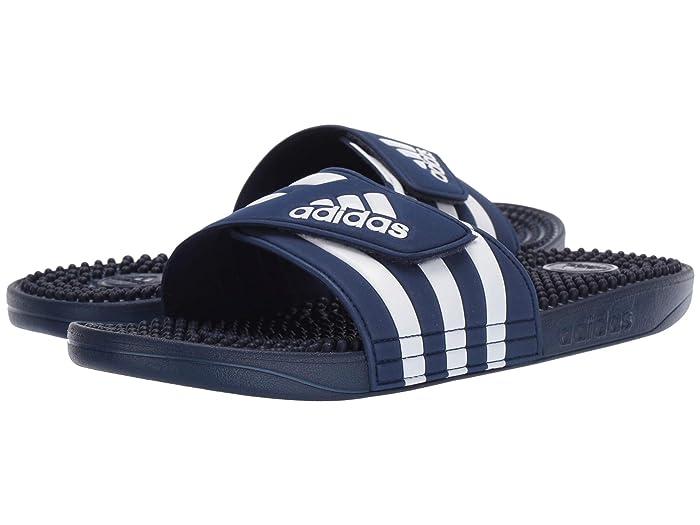 adidas  adissage (Dark Blue/Footwear White/Dark Blue) Mens Slide Shoes