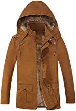 Men's Autumn Winter Coat Casual Hooded Pure Color Jacket Button Outwear Tops