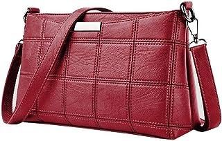 Women'S Casual Tassel Handbag Female Designer Bag Leather Lattice Messenger Bag Shoulder Bag