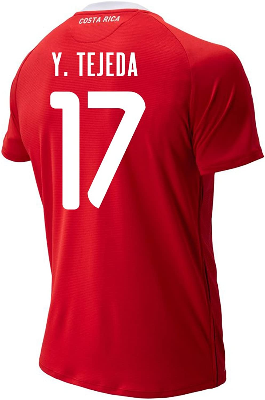 New Balance Y. TEJEDA  17 Costa Rica Home Soccer Men's Jersey FIFA World Cup Russia 2018