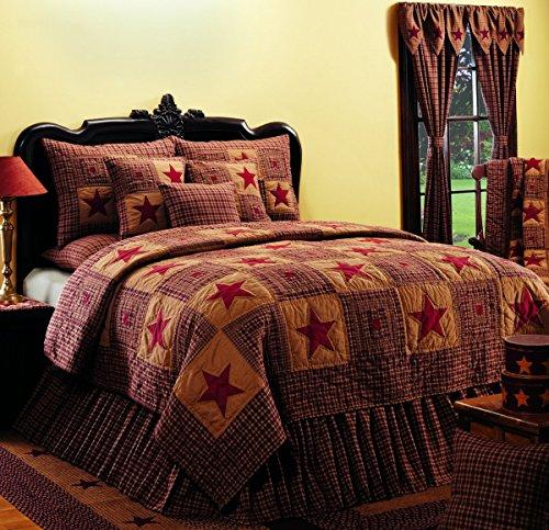 Lowest Price! Olivia's Heartland Vintage Star Wine - Burgundy King Quilt